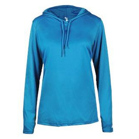 Badger B-Core L/S Ladies Hood Tee