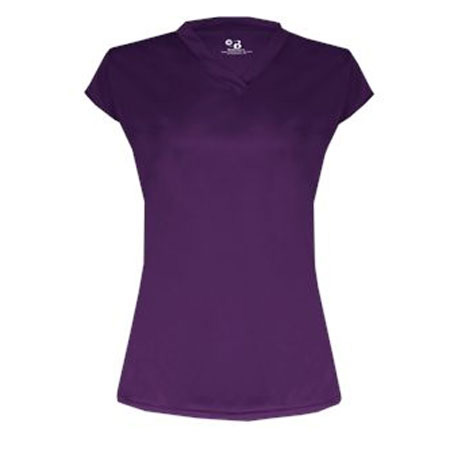 Solid Cap Sleeve Volleyball Jersey
