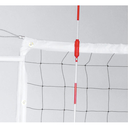 Power Volleyball Net, Steel Cable & Wood